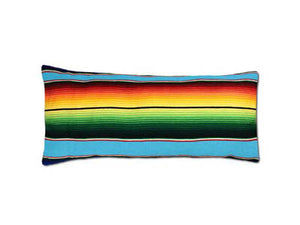 Saltillo Serape Long Rectangular Pillow -Light Blue