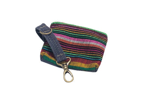 Denim Pouch Rainbow Striped
