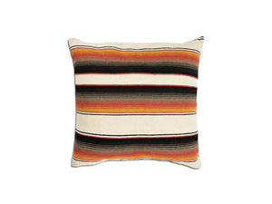 Saltillo Serape Square Home Pillow- Brown