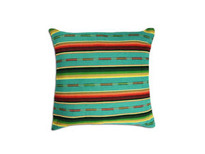 Sundance Serape Square Home Pillow- Teal