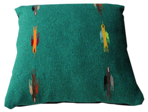 Thunderbird large square pillow bed- Teal