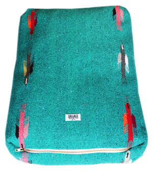 Thunderbird Rectangulo Bed- Teal