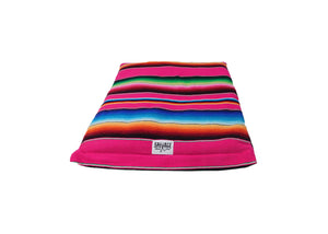 Saltillo Serape Rollup Bed- Hot Pink