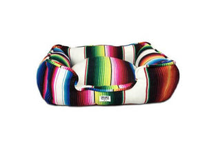 Saltillo Serape Bumper Bed - White