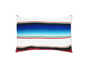 Saltillo Serape White Rectangular Pillow