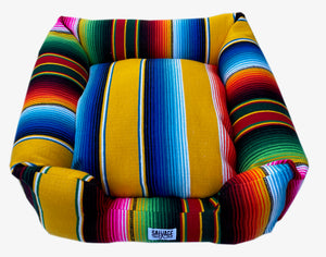 Saltillo Serape Bumper Bed - Yellow
