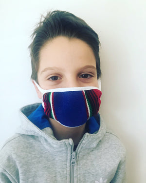 Children's Serape three layered face mask