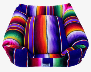 Saltillo Serape Bumper Bed - Purple