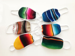 6 Pack Adult serape three layered face mask- assorted