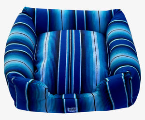 Saltillo Serape Bumper Bed - Two tone Blue
