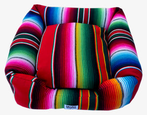 Saltillo Serape Bumper Bed - Red