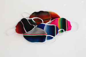 Adult serape three layered face mask