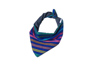 Striped Bandana-Blue