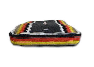 Diamante Striped Rectangulo Bed- Black/Orange
