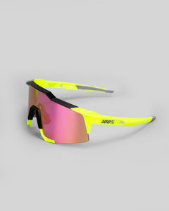 100% Speedcraft Polished Black/ Fluorescent Yellow Purple Multilayer Mirror Lens