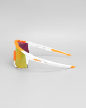 100% Speedcraft Soft Tact Day Glo Orange/White HIPER Red Multilayer Mirror Lens