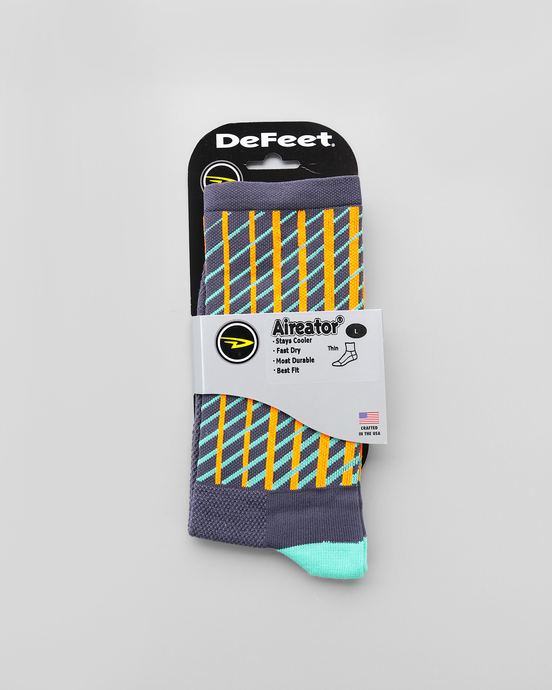 Defeet Aireator - Graphite Celeste Socks