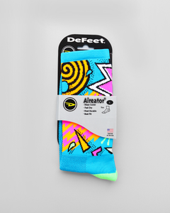 Defeet Aireator Process Blue Neon Socks