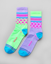 Defeet Aireator - Mash Up Lavender Hi Vis Socks
