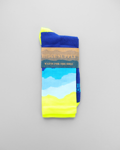 Ridge Supply Aireator RS Skyline Neon Yellow Socks
