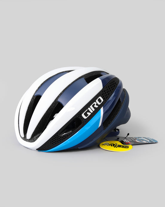 Giro Matt White Blue Helmet