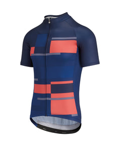 Assos Man's Anthracite SS Jersey - Dark Blue