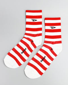 "Defeet - Aireator 5"" D-Logo Stripers Red/White"