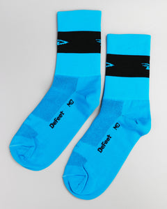 Defeet Aireator Team DeFeet - Process Blue w/Black Socks