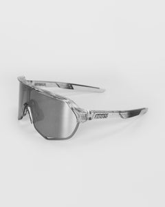 100% S2 Polished Trans. Grey - HiPER Silver Mirror Lens