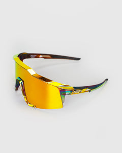 100% Speedcraft Peter Sagan Chromium Red HiPER Red Multilater Mirror Lens