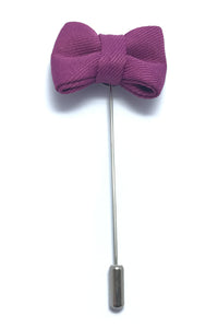 Lapel Pins - Plum Purple Bow Tie
