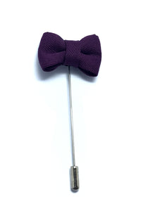 Lapel Pins - Rasin Purple Bow Tie