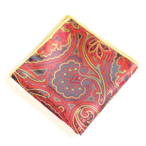 Paisley Pockets - Black, Red And Yellow
