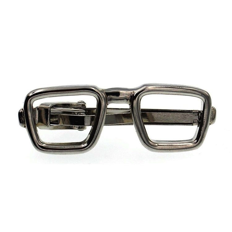 Tie Bar - Gun Metal Glasses