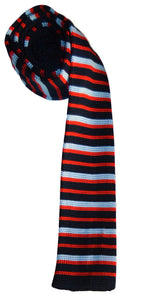 Knitted - Blue And Red Stripes