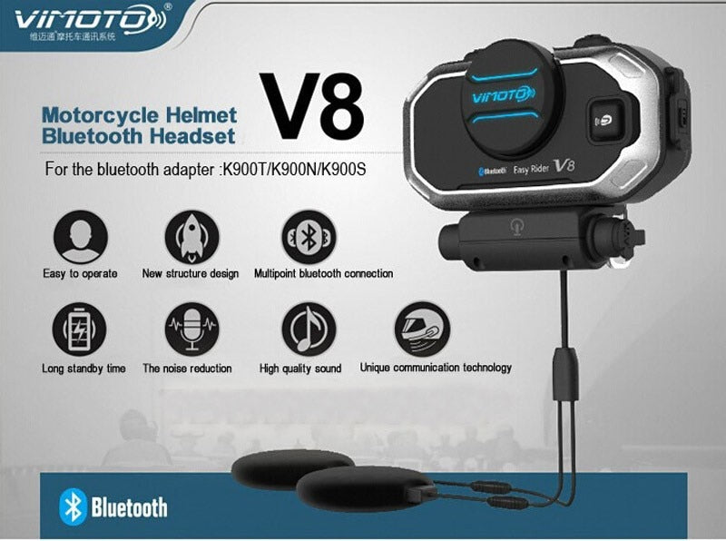 Easy Rider 2Sets Vimoto V8 Helmet Bluetooth Headset