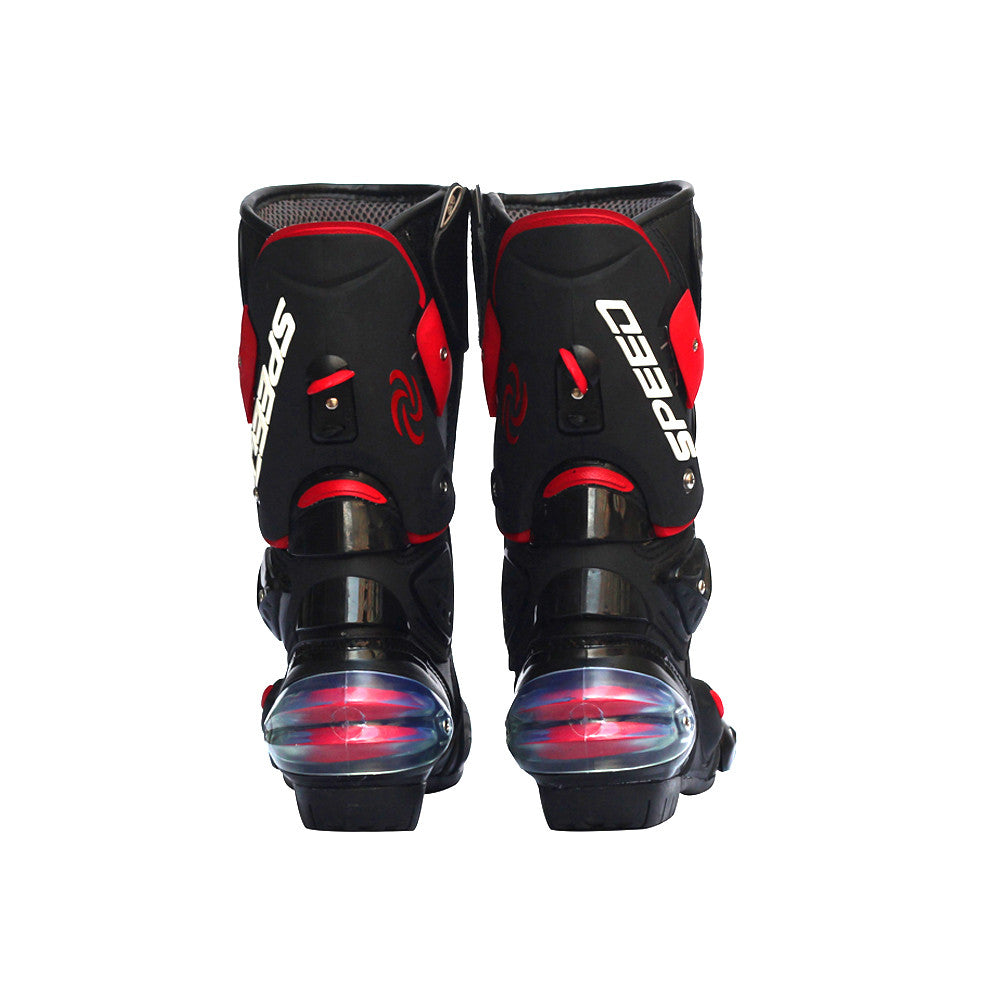 Pro Biker Leather Motorcycle Boots