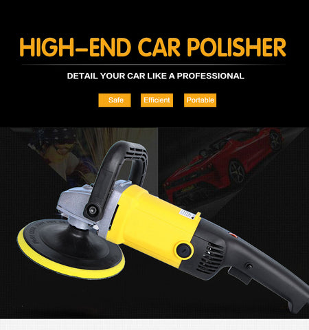 Car Polisher 1200W Variable Speed 3000rpm 180mm Car Paint Care Tool Polishing Machine