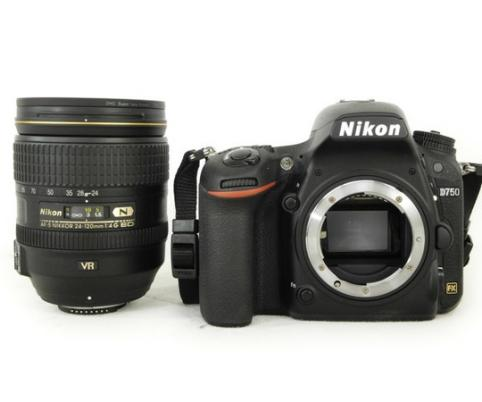 Nikon D750 DSLR Camera Body with Nikon AF-S NIKKOR 24-120mm f/4G ED VR Lens
