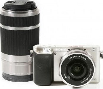 Sony ILCE-6000 A6000 A6000Y 24.3MP Digital Camera Body + 16-50mm + 55-210mm Lens SILVER
