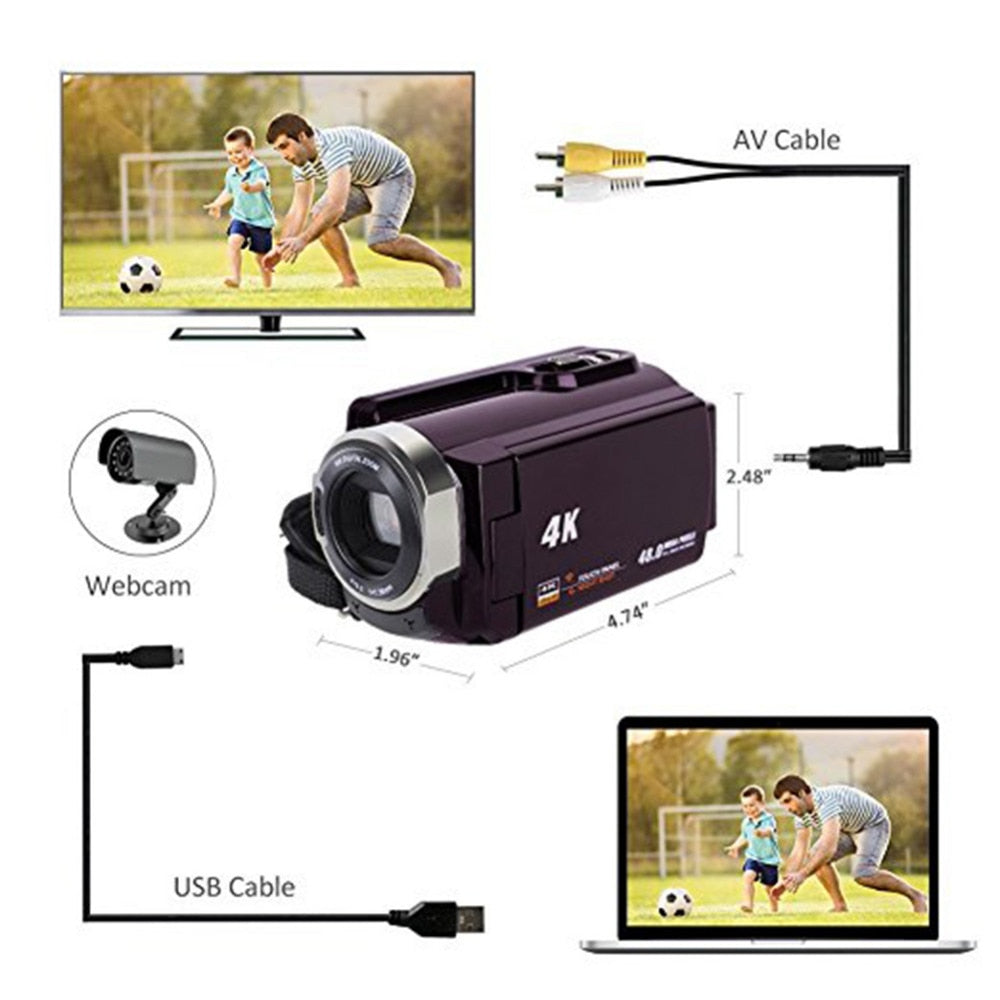 4K Camcorder Video Camera