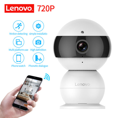 LENOVO Snowman IP Camera WiFi Wireless Mini HD 720P Security Camera