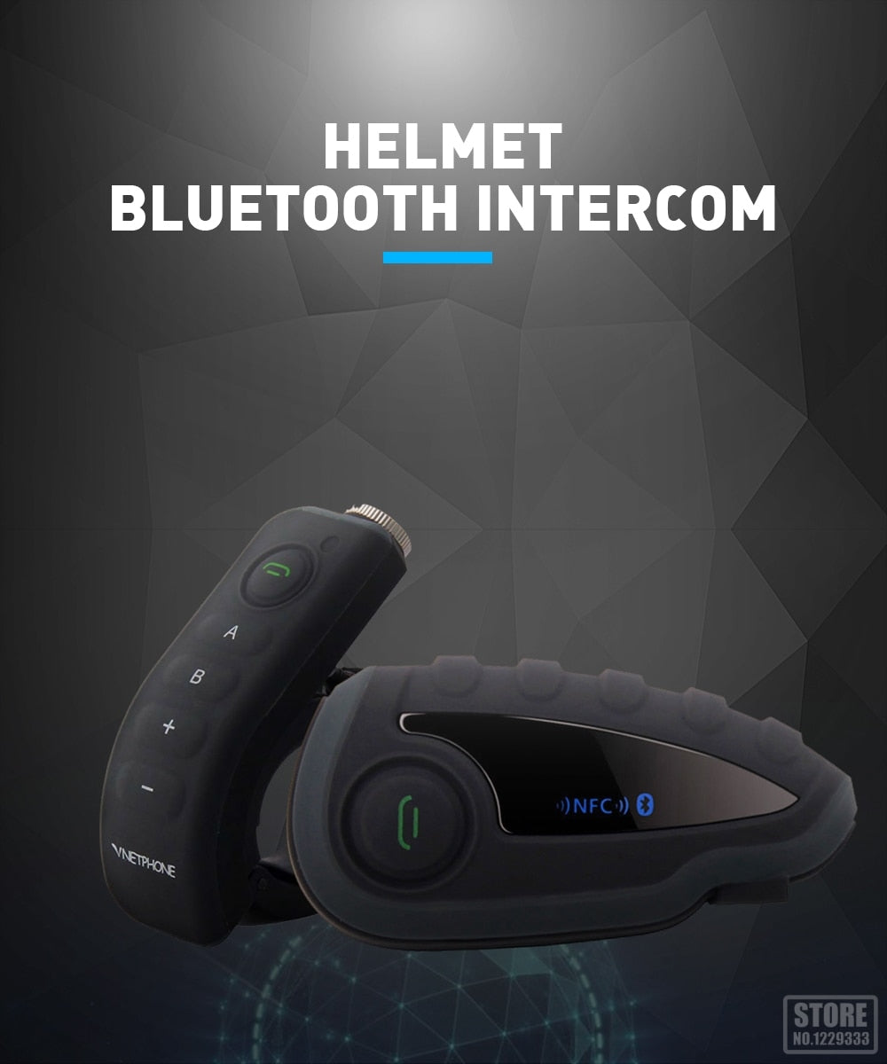 VNETPHONE Helmet Headset Motorcycle Intercom