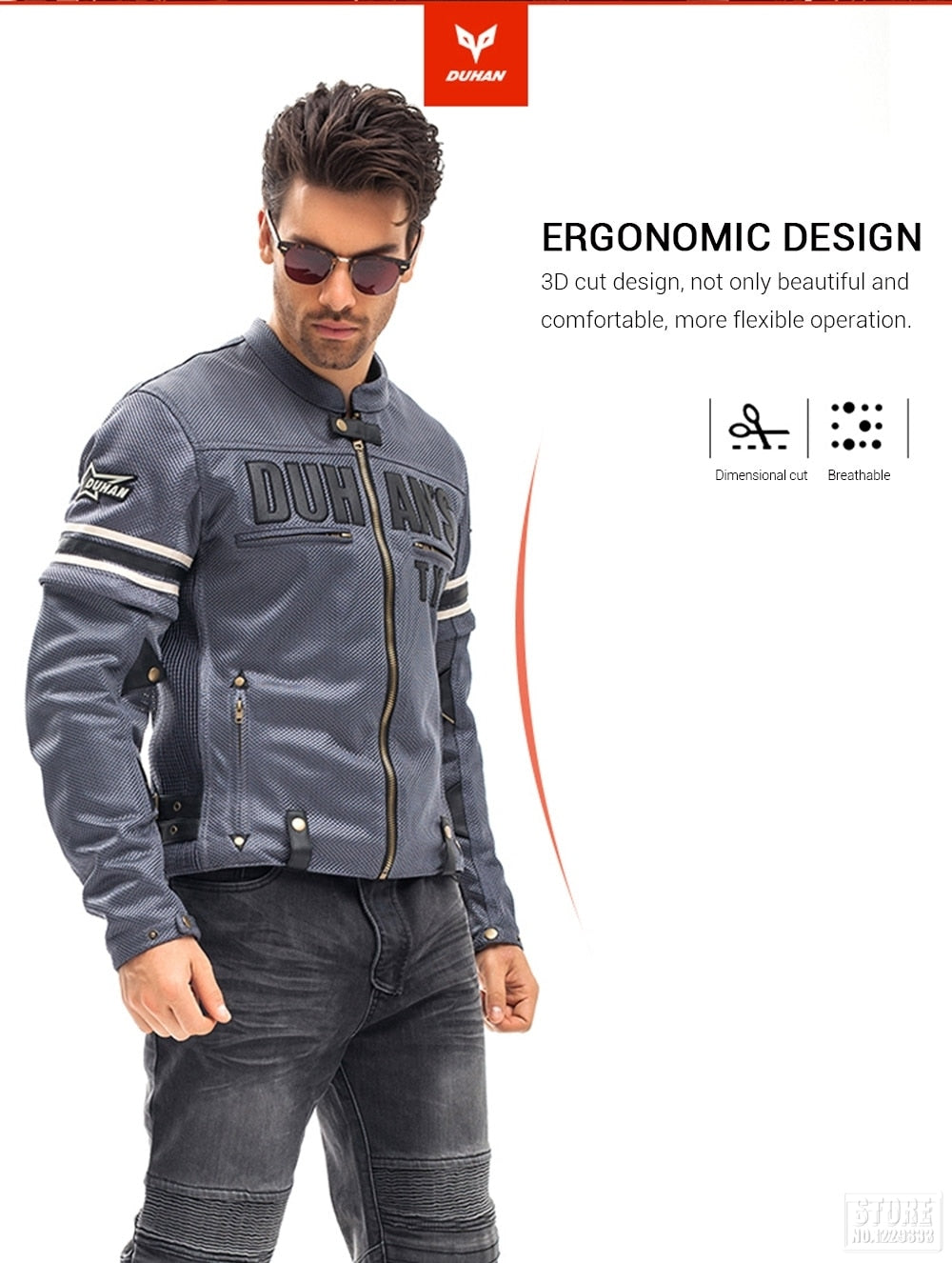 DUHAN Motorcycle Jacket Men Breathable