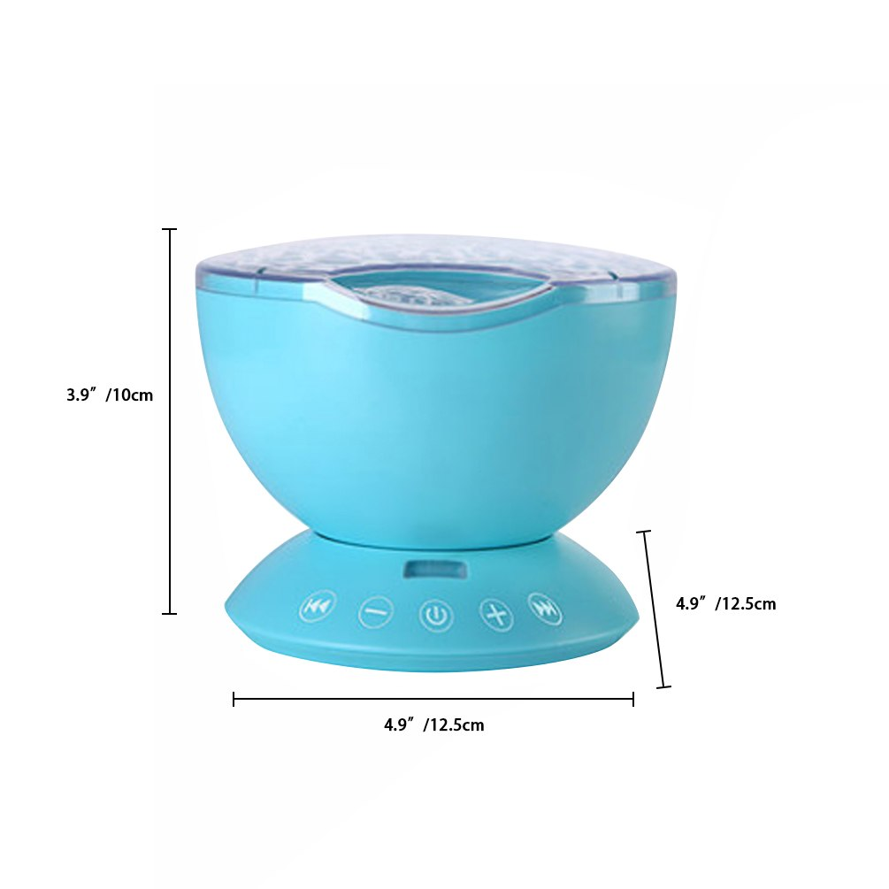 LEDGLE Rainbow Sea Wave Projector Lamp & Speaker