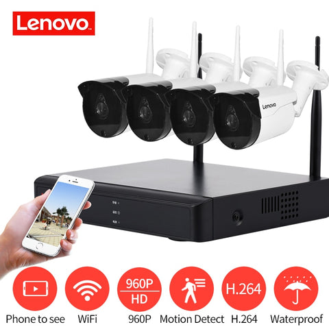 LENOVO 4CH Array HD WiFi Wireless Security Camera System