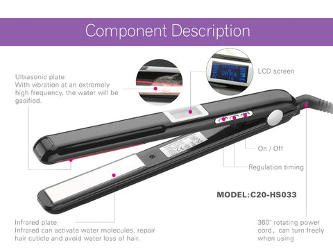 Ultrasonic & Infrared Hair Care Iron Recovers