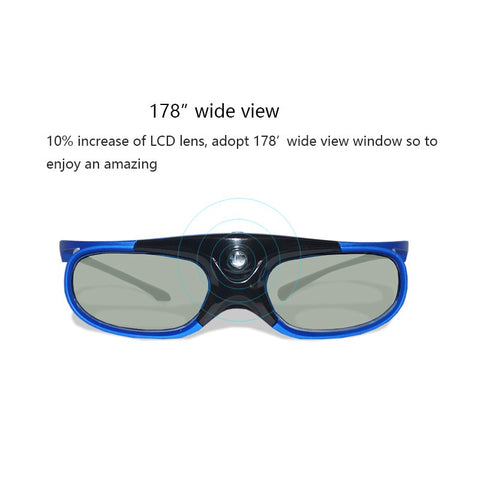 Active Shutter Rechargeable 3D DLP Glasses