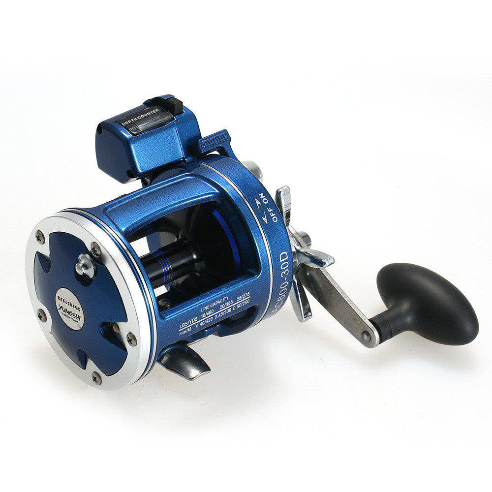 Fishing Trolling Reel with Line Counter