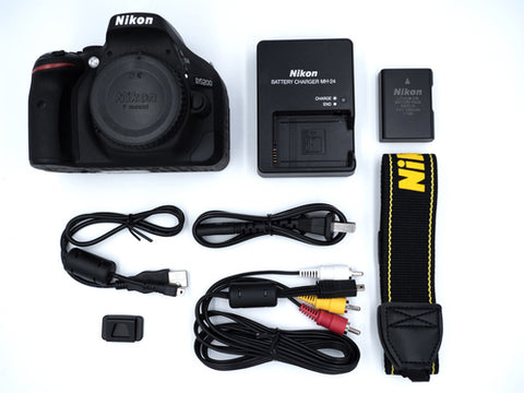 Nikon D5200 DSLR Camera -24.1MP -Video -Vari-Angle LCD